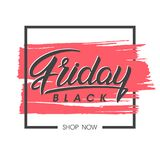 Black friday sale banner. Special offer on brush stroke background. Brochure template perfect for prints, flyers, banners, promotion, special offer, ads,web Stock Images