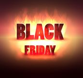 Black Friday Sale Banner With Spotlight, Discount Background. Vector illustration Royalty Free Stock Photo