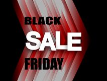 Black Friday Sale Banner. Stylish red and black polygonal background with falling geometric shapes and the text Black Friday . Pri royalty free illustration