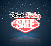 Black Friday Sale banner super man style Royalty Free Stock Image