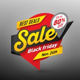 Black friday sale banner template, special offer, end of season Stock Photography