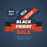 Black Friday Sale Banner Template. Special system of discounts. Stock Photos