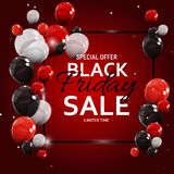 Black Friday Sale Banner Template. Vector Illustration Royalty Free Stock Image