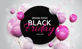 Black Friday Sale Banner Template. Vector Illustration Royalty Free Stock Images