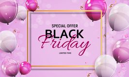 Black Friday Sale Banner Template. Vector Illustration Stock Photo