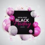 Black Friday Sale Banner Template. Vector Illustration Stock Photos