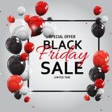 Black Friday Sale Banner Template. Vector Illustration Stock Photo