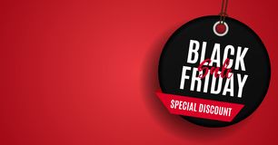 Black Friday Sale Banner Template. Vector Illustration. EPS1 royalty free illustration