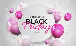 Black Friday Sale Banner Template. Vector Illustration Royalty Free Stock Photo