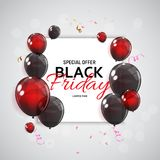 Black Friday Sale Banner Template. Vector Illustration Stock Photography