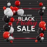 Black Friday Sale Banner Template. Vector Illustration Stock Image