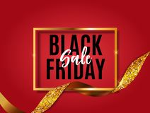 Black Friday Sale Banner Template. Vector Illustration. EPS1 stock illustration