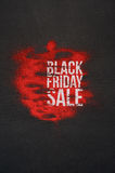Black Friday Sale Banner with Text on Background. Black Friday Sale Banner with Big Text on abstract dark and red Background Stock Photos