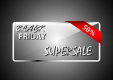 Black friday sale banner transparent effect Stock Photo