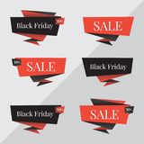 Black Friday sale banner. Black Friday vector design template. Origami Black Friday sale banner vector design template. For website. Black Friday sale banner Royalty Free Stock Photography