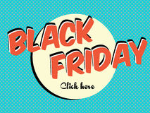 Black friday sale banner in vintage style, vector background Stock Photography