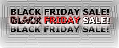 Black Friday sale banner. On white background promoting sale Stock Image