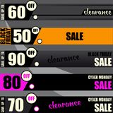 Black friday sale banners. Black friday sale banner, super sale banners Royalty Free Stock Images