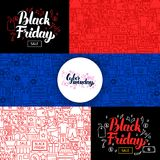 Black Friday Sale Banners. Vector Illustration for Shopping Promotion Stock Photography