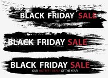Black Friday Sale banners Stock Photos