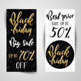 Black Friday Sale Banners. Royalty Free Stock Photos