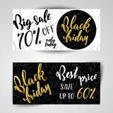 Black Friday Sale Banners. Stock Photography