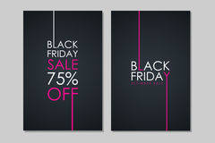 Black Friday Sale banners. Special offer, discount up to 75% off, ultimate sale. Royalty Free Stock Photography