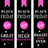 Black friday sale banners Royalty Free Stock Photography