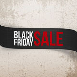 Black Friday Sale bend vector Ribbon Royalty Free Stock Photo
