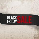 Black Friday Sale bend vector Ribbon Royalty Free Stock Photo