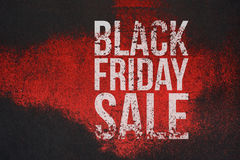 Black Friday Sale big grunge Text on Banner Royalty Free Stock Image