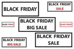Black Friday - vector stamp. Black Friday - sale - big sale - brick pattern - vector stamp Stock Image