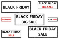 Black Friday - vector stamp. Black Friday - sale - big sale - vector stamp Royalty Free Stock Image