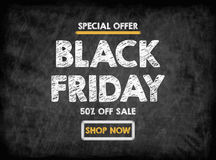 Black Friday Sale. Black Board With Texture, Background Royalty Free Stock Image