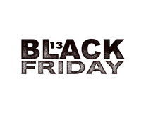 Black Friday sale black tag, round banner Stock Images