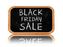 Black friday sale on blackboard banner Royalty Free Stock Image
