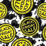 Black Friday Sale blot seamless vector background. Stock Photo