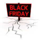 Black friday sale board 3D. Black friday sale. Unusual 3D rendering on white background Stock Photo
