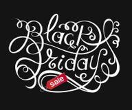 Black Friday Sale bokstäver stock illustrationer