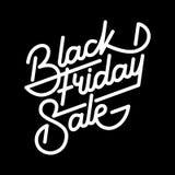 Black Friday Sale bokstäveremblem Royaltyfria Foton