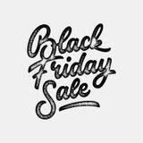 Black Friday Sale bokstäveremblem Royaltyfri Foto