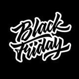 Black Friday Sale bokstäveremblem Arkivbild