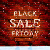 Black Friday Sale on brick wall background Royalty Free Stock Photos