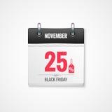 Black Friday sale calendar background Royalty Free Stock Photography