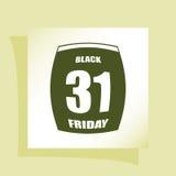 Black Friday Sale Calendar date page Stock Photos