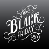 Black Friday Sale Calligraphic Design. Royalty Free Stock Images