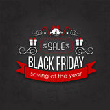 Black Friday Sale Calligraphic Designs Royalty Free Stock Image