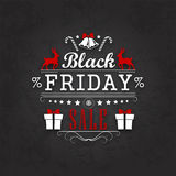 Black Friday Sale Calligraphic Designs Stock Photography