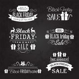 Black Friday Sale Calligraphic Designs set on Stock Photo