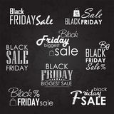 Black Friday Sale Calligraphic Designs set on Royalty Free Stock Photos